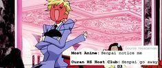 Most anime vs. Ouran High School Host Club
