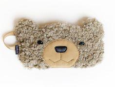 Teddy Bear sleep mask: sleep eye mask with pouch by szududu
