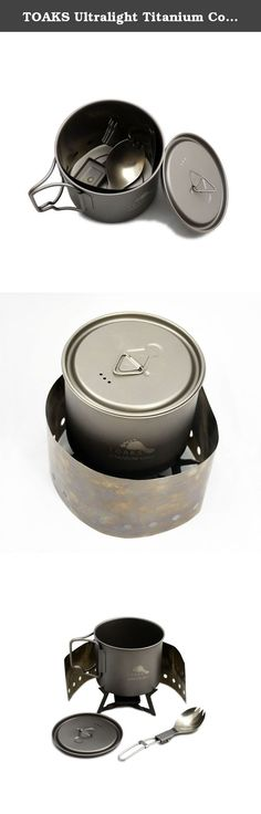 TOAKS Ultralight Titanium Cook System. The system comes with an orange color nylon bag.