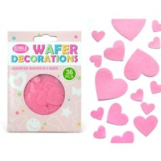 WAFER PINK HEARTS