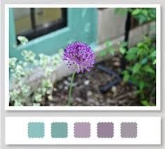 Teal, lavender and gray :)