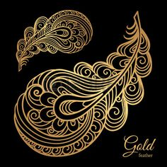 Find Ornamental Gold Feather Swirly Decorative Element stock images in HD and millions of other royalty-free stock photos, illustrations and vectors in the Shutterstock collection. Gold Feathers, Peacock Feathers, Royalty Free Images, Royalty Free Stock Photos, Peacock Tattoo, Peacock Design, Tattoo Inspiration, Tribal Tattoos, Vector Art