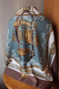 Vintage Hermes Paris Bride De Cour silk scarf by  by MVVagabundo
