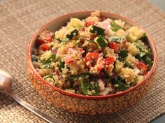 Perfect for work lunches, this Make-Ahead Quinoa Salad with Cucumber, Tomato, and Herbs from Serious Eats is hearty enough to get you through the 3pm energy slumps :) (vegan, gluten-free, grain-free, soy-free & DELICIOUS)  Recipe Link -->>