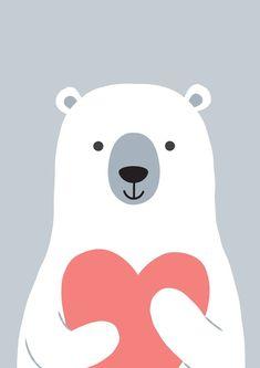 Nursery Prints, Nursery Art, Kids Wall Decor, Bear Art, Cute Illustration, Cute Cartoon, Printable Wall Art, Cute Wallpapers, Art For Kids