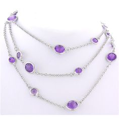 Amethyst Stone by the Yard paradisojewelry.com wholesale sterling and genuine gemstones