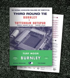 Burnley vs Tottenham Hotspur. FA Cup Third Round Programme.