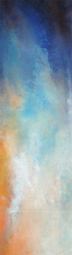 "Bobbette Rose - Exchange of Valley, encaustic monotype,15"" x 40"""
