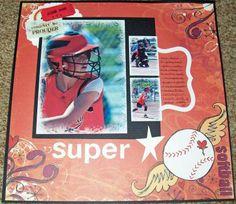 scrapbooking sports layouts - baseball