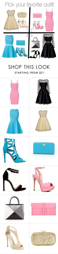 """""""77"""" by tasneemkm ❤ liked on Polyvore featuring WithChic, Marc by Marc Jacobs, Elizabeth and James, Rebecca Minkoff, Dolce&Gabbana, ALDO, Fendi, Hermès, Jimmy Choo and INC International Concepts"""