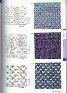 World crochet: Pattern 5 Crochet Wool, Crochet Motifs, Crochet Diagram, Crochet Stitches Patterns, Crochet Chart, Crochet Granny, Knitting Stitches, Stitch Patterns, Knitting Patterns
