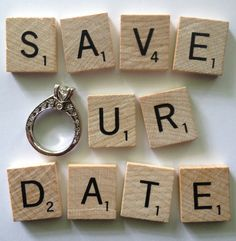 Scrabble Save the Date ~ With optimal health often comes clarity of thought. Click now to visit my blog for your free fitness solutions!