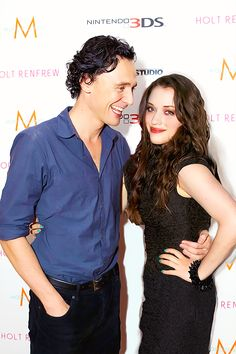 Tom and Kat Dennings. I love them together, two of my favorite people :D <3