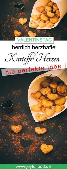 Tolles Rezept für den Valentinstag: Herrlich herzhafte Kartoffel Herzen. Einfach gemacht, passend zu Fleisch, Fisch oder zum Snacken. #Valentinstag #valentinesday #valentine #airfryer #philips #philipsairfryer #Kartoffeln #Herzen #liebe #rezept #joyfulfood #potatoes #pommes #ofenkartoffeln #einfach #lecker #überraschung