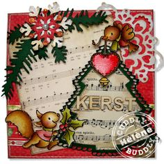 Cute Squirrel Christmas Card...Hélène's lovely things in life.