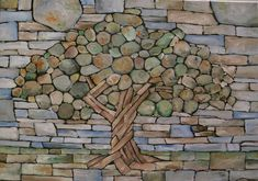 tree stone wall - Google Search
