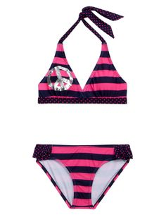 Girls Clothing | Bikinis | Peace And Stripes Bikini Swimsuit | Shop Justice