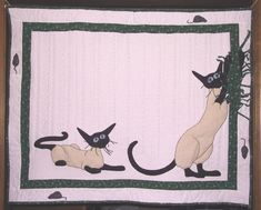 ForestJane Designs: Siamese Cat Quilt