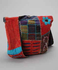 """Take a look at this Red & Blue Hobo by Rising International on #zulily today!  13""""HX16""""D"""