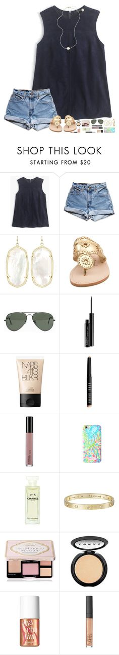 """Boys... "" by hopemarlee ❤ liked on Polyvore featuring J.Crew, Levi's, Kendra Scott, Jack Rogers, Ray-Ban, MAC Cosmetics, NARS Cosmetics, Bobbi Brown Cosmetics, Lilly Pulitzer and Chanel"