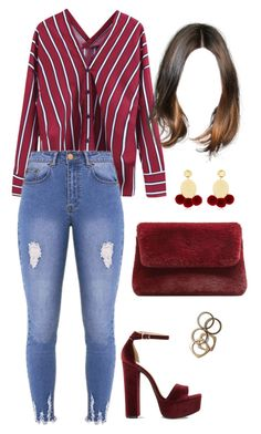 """Sin título #1708"" by tamigc ❤ liked on Polyvore featuring Lipsy, Elizabeth and James, Steve Madden, MANGO and Rachel Leigh"