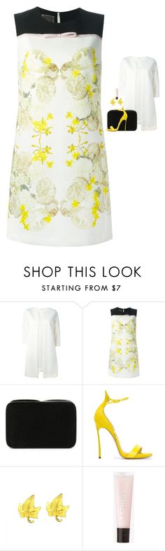 """Giambattista Valli - Floral Print Shift Dress Style"" by twinklebluegem on Polyvore featuring P.A.R.O.S.H., Giambattista Valli, Serpui, Casadei, Tiffany & Co. and Express"