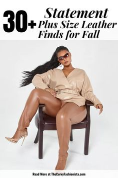 Almost every popular retailer and plus size boutique is serving us all the fancy faux plus size leather we can imagine! Your Closet Will Thank You- 30+ Statement Plus Size Leather Finds for Fall #plussizefashion #plussize Plus Size Fashion Tips, Plus Size Outfits, Plus Sise, Plus Size Boutique, Romantic Dates, Plus Size Designers, Curvy Girl Fashion, Edgy Outfits, Fall Season