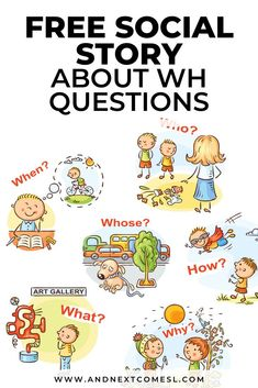 Wondering how to teach WH questions to kids with autism or hyperlexia? Try this free printable social story about WH questions! #whquestions #speechtherapy #autism #hyperlexia #socialstories Wh Questions, This Or That Questions, Visual Aids, Speech Therapy Activities, Social Stories, Children With Autism, Social Skills, Free Printables, Teaching