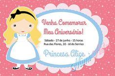Convite Digital Princesa -Alice