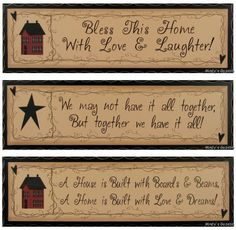 Primitive Home Decor Signs | Primitive Antique Sign Rustic Country Home Decor Plaque | eBay