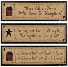Primitive Home Decor Signs | Primitive Antique Sign Rustic Country Home Decor Plaque | eBay