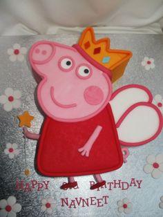 3D Princess Peppa Pig Birthday Cake
