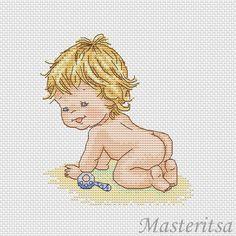Gallery.ru / Фото #67 - Мои разработки - parad-vishivky Baby Cross Stitch Patterns, Cute Cross Stitch, Cross Stitch Designs, Cross Stitching, Cross Stitch Embroidery, Hand Embroidery, Crochet Cross, Crochet Chart, Cross Stitch Numbers