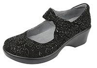 Alegria Ella Black Sprigs women slip resistant mary jane shoes