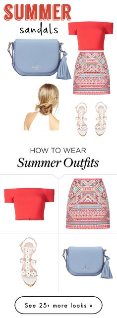 """Cute summer outfit"" by ttabd on Polyvore featuring Oscar de la Renta, Alice + Olivia, Accessorize, Kate Spade, ASOS and summersandals"