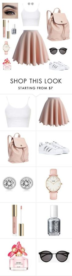 """""""Daisy (2)"""" by mariacle2753 ❤ liked on Polyvore featuring Topshop, Chicwish, Tory Burch, adidas, Michael Kors, CLUSE, Essie, Marc Jacobs and Yves Saint Laurent"""