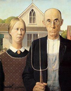 """""""American Gothic"""", Grant Wood. Quiero esto en mi cocina."""