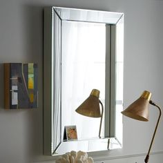 Parsons Wall Mirror – Mirrored | west elm