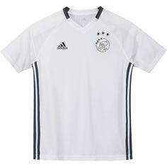 adidas Ajax jr trainingsshirt 2016/2017  Description: In dit Ajax trainingsshirt voor het seizoen 2016/2017 traint het team van Ajax voordat ze beginnen aan een wedstrijd. Als echte Ajax fan kun je dit adidas shirt voor junioren natuurlijk niet missen. Di