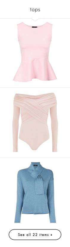 """""""tops"""" by moreblessings ❤ liked on Polyvore featuring tops, shirts, pink peplum shirt, textured shirt, pink peplum top, peplum tops, pink shirt, accessories, body art and pink sand"""