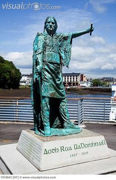 Statue Of Gaelic Chieftain Red Hugh O Donnell Donegal Town County Donegal Ireland Belfast, Irish Images, Celtic Pride, Statues, Erin Go Bragh, Irish Blessing, Irish Eyes, Republic Of Ireland, O Donnell
