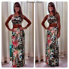 Instagram media by fefemattos - ARRASE COM AS NOVIDADES!!!!  Conjunto Saia Longa com Fenda mais cropped