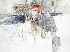 Russian Collage 1 - Watercolour & Mixed Media 32 x 44 cm by Shirley Trevena