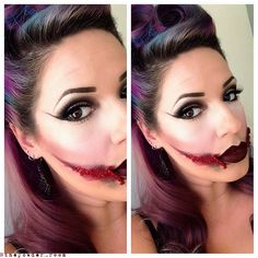 Black Dahlia Halloween Makeup