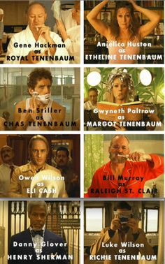 The Royal Tenenbaums. One of the best movies ever.