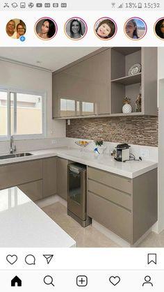 H Style, Kitchen Storage, Kitchen Decor, Kitchen Design, Home Decor  Furniture, Nova, Small Kitchens, Modern Kitchens, Gray Decor