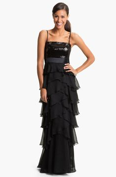 Calvin Klein Sequin Ruffled Gown - my best friend would look gorgeous in this.