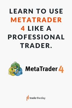Learn everything you will need to start trading with MetaTrader 4, get started with metatrader 4, How to use MetaTrader 4 to make money Forex Trading Brokers, Forex Trading Platforms, How To Make Money, Education, Learning, Studying, Teaching, Onderwijs