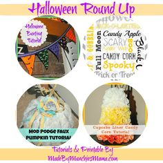A round up of some super cute and easy Halloween crafts and a Halloween Subway art Printable.  Love it!