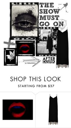"""""""The Show Must Go On"""" by nenasheva ❤ liked on Polyvore featuring River Island, black and lace"""